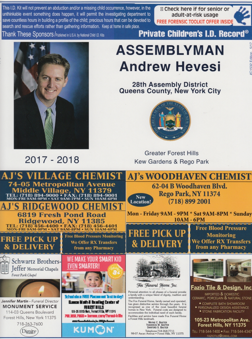Elected Official ID Kit Sample